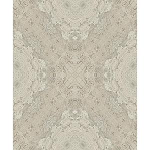 Mixed Materials Taupe Cork Wallpaper