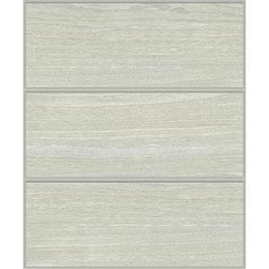 Mixed Materials Gray and Silver Wood Veneer Wallpaper