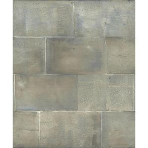 Mixed Materials Blue Brick Wallpaper