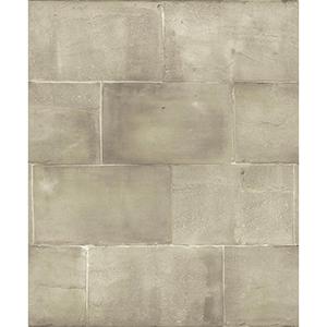 Mixed Materials Beige Brick Wallpaper