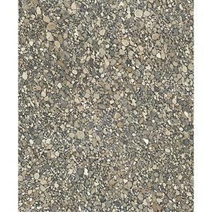 Mixed Materials Dark Neutral Pebble Wallpaper