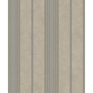 Mixed Metals Channel Stripe Wallpaper