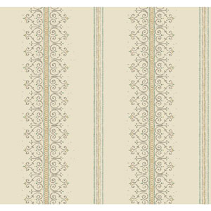 Carey Lind Modern Shapes Cream and Gold Radiant Filigree Wallpaper