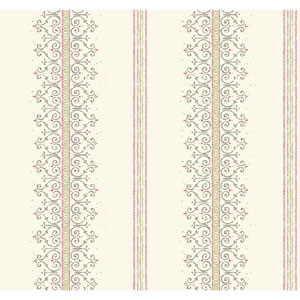 Carey Lind Modern Shapes White and Pink Radiant Filigree Wallpaper