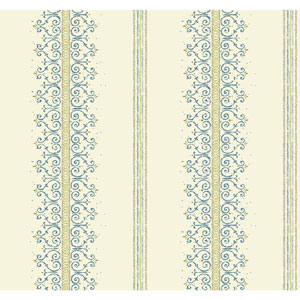Carey Lind Modern Shapes White and Yellow Green Radiant Filigree Wallpaper