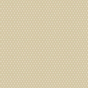 Carey Lind Modern Shapes Beige and White Marquise Wallpaper
