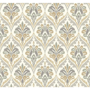 Carey Lind Modern Shapes Off-White and Grey Basilica Wallpaper
