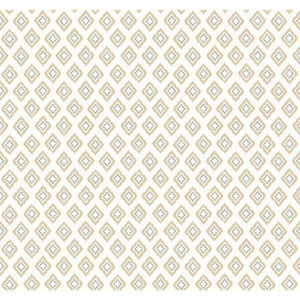 Carey Lind Modern Shapes Cream and Tan Keystone Wallpaper