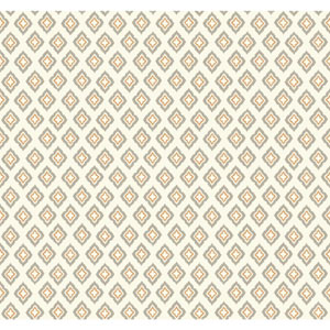 Carey Lind Modern Shapes Cream and Orange Keystone Wallpaper
