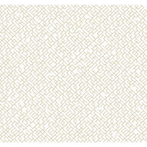 Carey Lind Modern Shapes Off-White and Tan Mason Wallpaper
