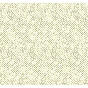 Carey Lind Modern Shapes Off-White and Yellow Green Mason Wallpaper