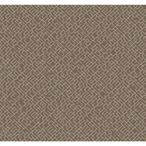 Carey Lind Modern Shapes Taupe and Silver Mason Wallpaper