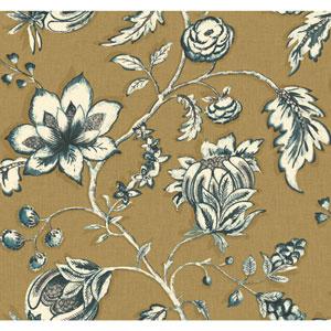 Carey Lind Modern Shapes Gold and Cream Jardin Wallpaper