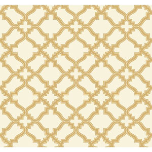 Carey Lind Modern Shapes Cream and Gold Cathedral Wallpaper