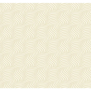 Carey Lind Modern Shapes Pearl and White Cross Current Wallpaper