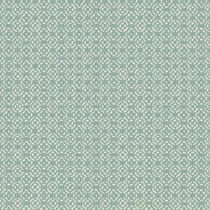Carey Lind Modern Shapes Aqua and White Ionic Wallpaper