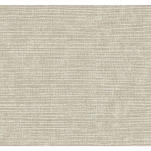 Carey Lind Modern Shapes Silver and Taupe Raffia Wallpaper