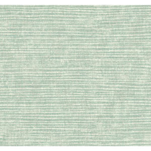 Carey Lind Modern Shapes Aqua and Pale Silver Raffia Wallpaper