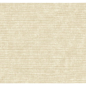 Carey Lind Modern Shapes Beige and Pearl Raffia Wallpaper