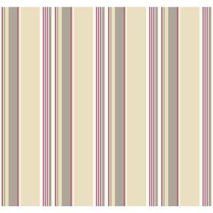 Carey Lind Modern Shapes Beige and Purple High Tide Wallpaper