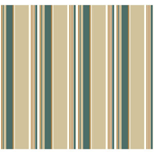 Carey Lind Modern Shapes Beige and Teal High Tide Wallpaper