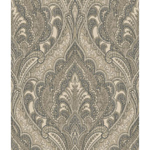 Menswear Hemmingway Black and Brown Removable Wallpaper