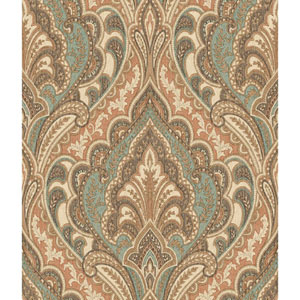 Menswear Hemmingway Brown and Green Removable Wallpaper