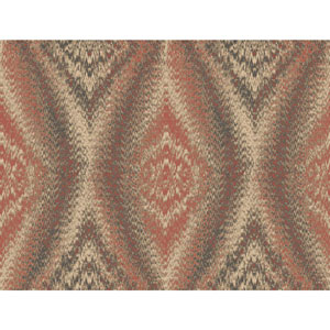 Menswear Chaucer Orange and Beige Removable Wallpaper