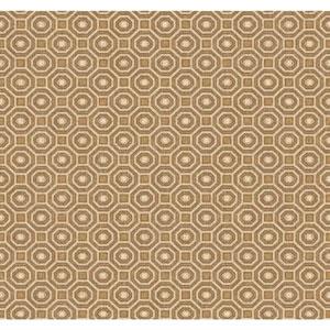 Menswear Pragmatic Yellow and Brown Removable Wallpaper