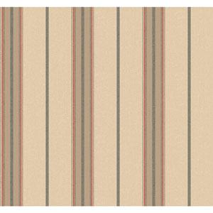 Menswear Ralph Stripe Beige and Brown Removable Wallpaper