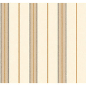 Menswear Ralph Stripe Brown and White Removable Wallpaper
