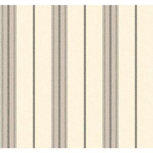 Menswear Ralph Stripe Black and White Removable Wallpaper