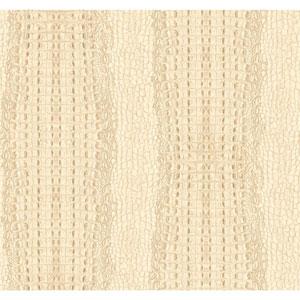 Menswear Crocodile White and Off White Removable Wallpaper
