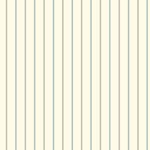 Menswear 3-Pinstripe Blue and Black Removable Wallpaper