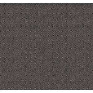 Menswear Herringbone Black and Metallic Removable Wallpaper