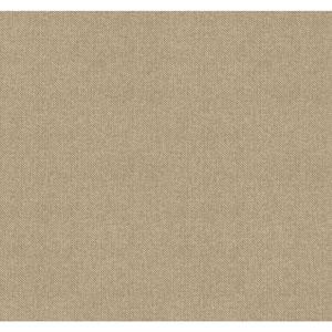 Menswear Herringbone Brown and Beige Removable Wallpaper