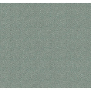 Menswear Herringbone Blue and Metallic Removable Wallpaper