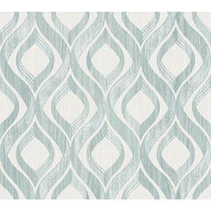 Ronald Redding Medley Arbor Blue Wallpaper