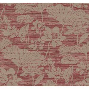 Ronald Redding Medley Darya Red Wallpaper