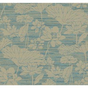 Ronald Redding Medley Darya Blue Wallpaper