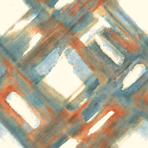 Cloud Nine District Blue and Orange Removable Wallpaper