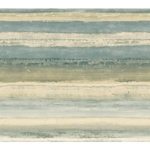 Cloud Nine Perspective Blue and Beige Removable Wallpaper
