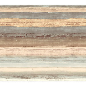 Cloud Nine Perspective Brown and Beige Removable Wallpaper