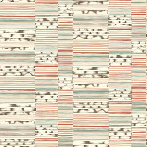 Cloud Nine Makisu Red and Green Removable Wallpaper