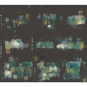 Cloud Nine City Lights Black and Blue Removable Wallpaper