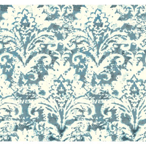 Cloud Nine Batik Damask Blue Removable Wallpaper