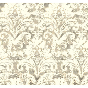 Cloud Nine Batik Damask Beige Removable Wallpaper