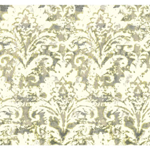 Cloud Nine Batik Damask Green Removable Wallpaper