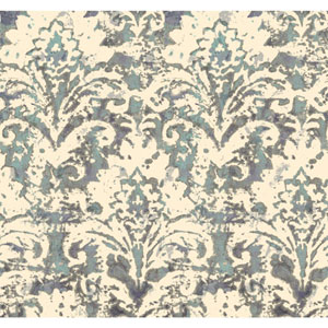 Cloud Nine Batik Damask Purple and Blue Removable Wallpaper
