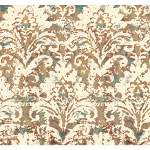 Cloud Nine Batik Damask Orange Removable Wallpaper